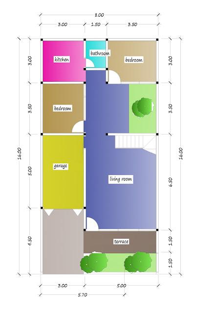 1st floor plan of beautiful house plan 32