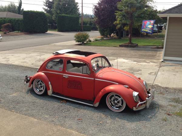1960 VW Slammed Rag Top Bug