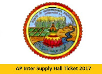 AP Inter Supply Hall Ticket 2017