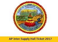 AP Inter Supply Hall Ticket 2017