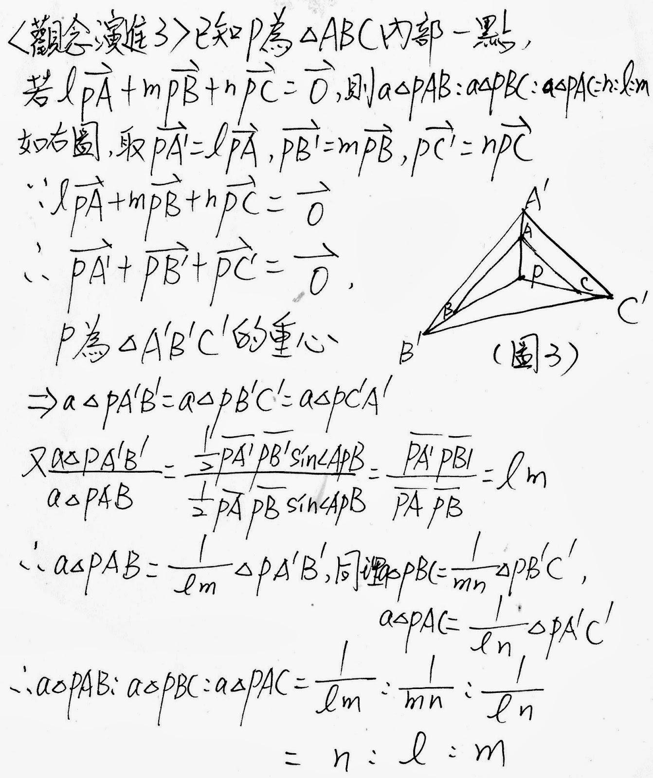 隨筆誌: 二上3-1平面向量的運算(面積比問題)