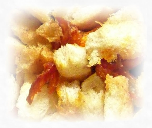 chorizo-croutons