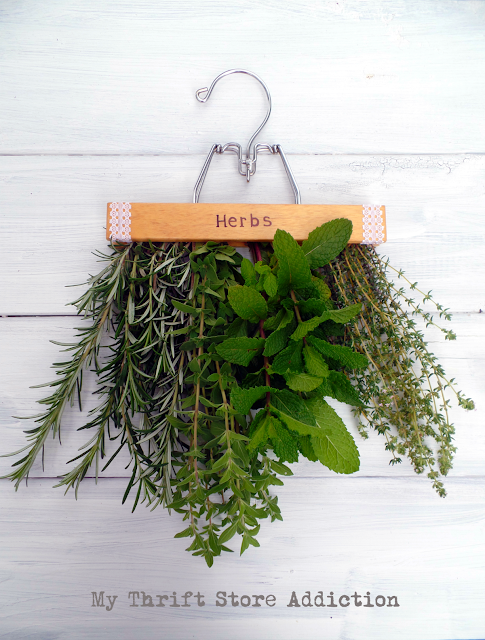 Secret Garden Herbs Repurposed Herb Drying Rack
