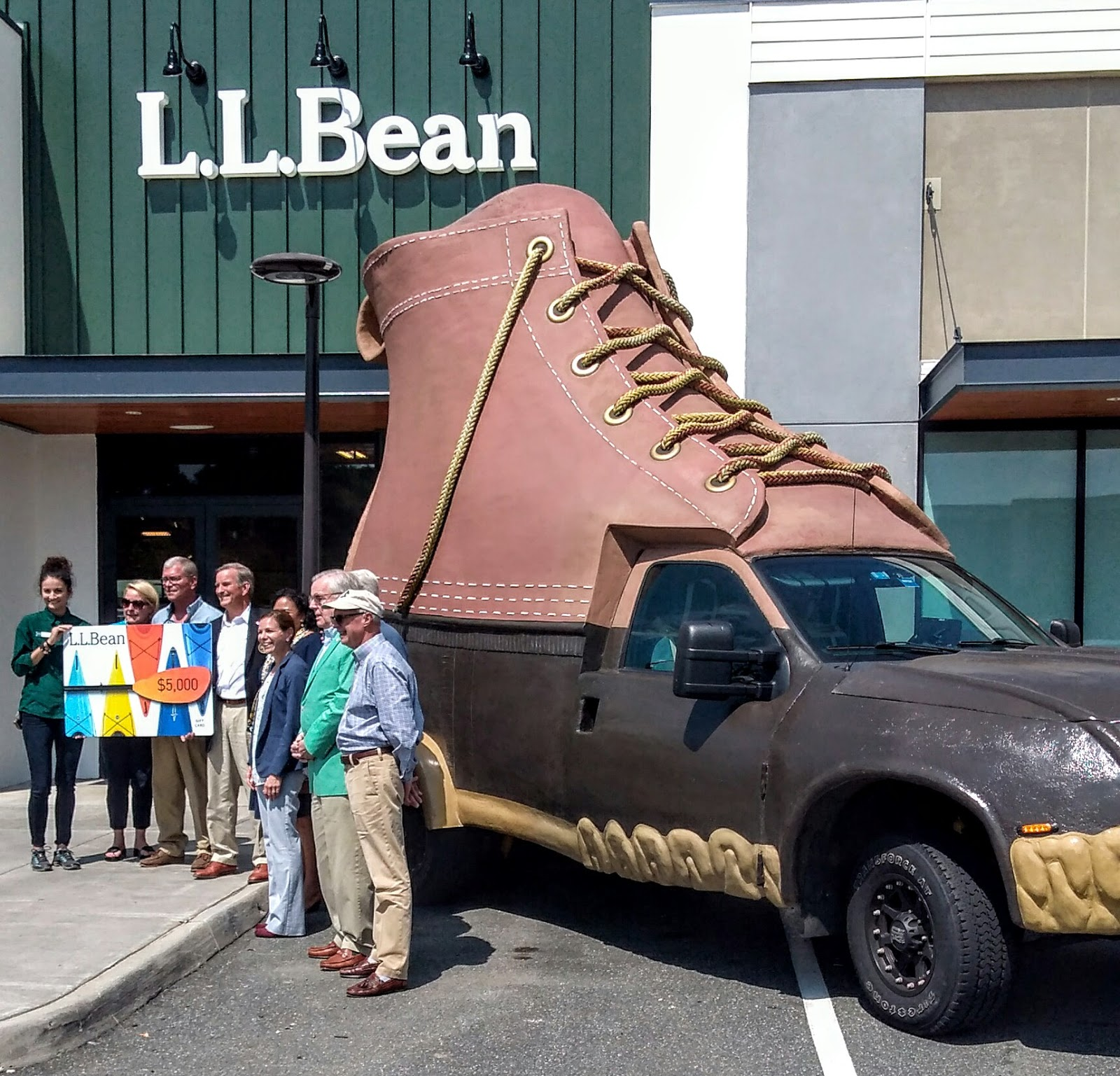 L L Bean Order Form -  5 000 presented to the girl and boy scouts by ll bean