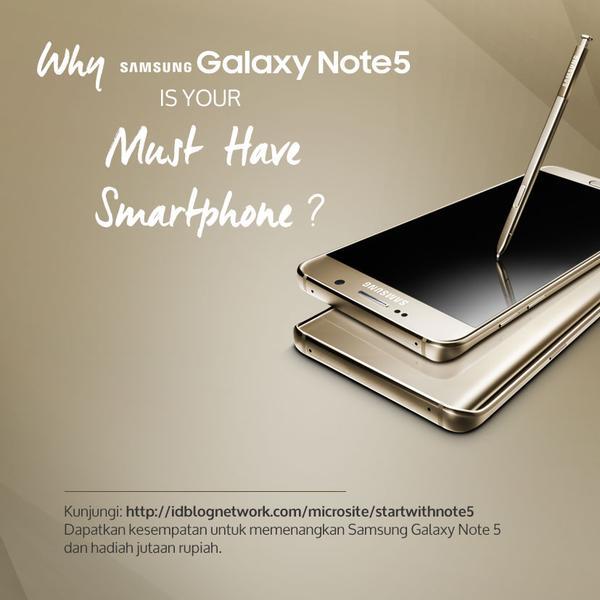 10 Alasan Samsung Galaxy Note 5 Pantas Menjadi Smartphone Pilihan