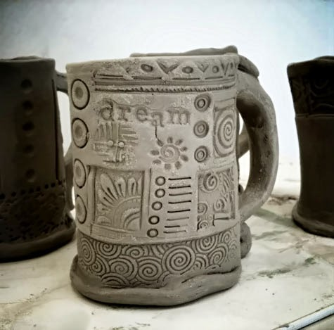 Westville Art Blog Ceramics Stamped Mug
