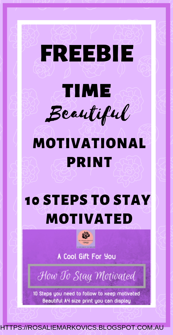 Freebie: How To Stay Motivated-10 step checklist