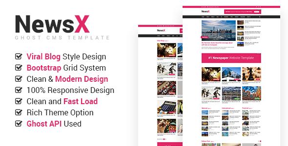 Template NewsX - Responsive News, Magazine, Viral Blog Theme Blogging