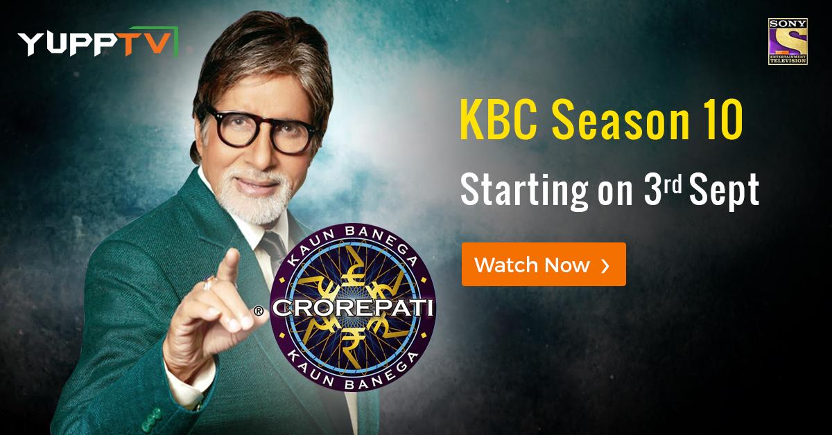 YuppTV Blog: Kaun Banega Crorepati Returns with Season 10 on