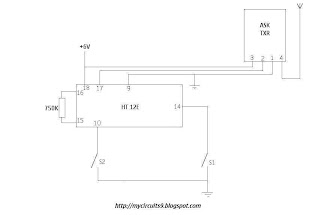 rf remote control transmitter circuit diagram