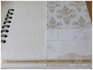 jak wykorzystać kawałki papieru w albumie, papierowy patchwork, JAnome sewing