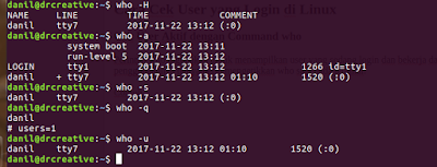 Cara Mengetahui User yang Sedang Login di Linux