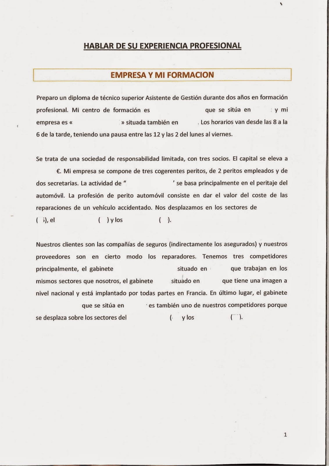 Oral Espagnol Bts 14