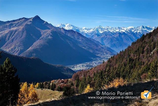 Panorama dal sentiero per il monte Ziccher