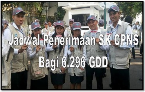 Jadwal Penerimaan SK CPNS Bagi 6.296 GGD