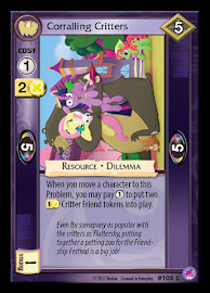 My Little Pony Corralling Critters Seaquestria and Beyond CCG Card