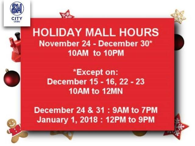 Mall Hours SM City Cebu Christmas 2017