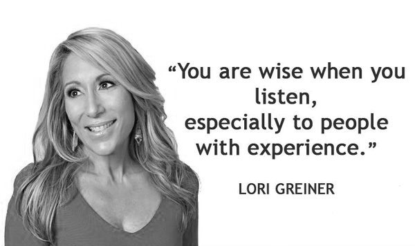 Lori Greiner Motivational Quotes Shark Tank QVC Quote Inspirational Sales Entrepreneur Startup Wisdom Advice Investor QVC Retail