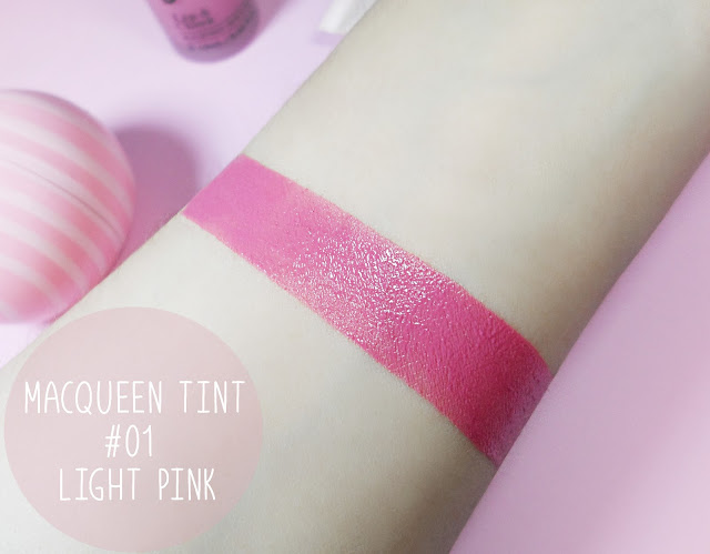 liz breygel beauty makeup macqueen tint light pink review swatch