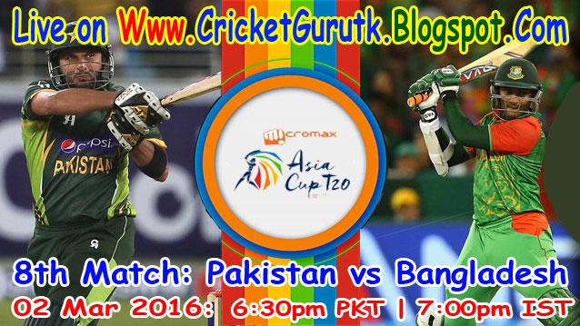 Pakistan vs Bangladesh Live Streaming