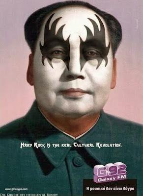 Lustiger Diktator Hard Rock Revolution lustiges bemaltes Gesicht