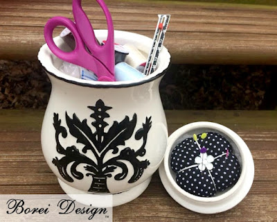 Tutorial: Upcycled sewing organizer with pincushion