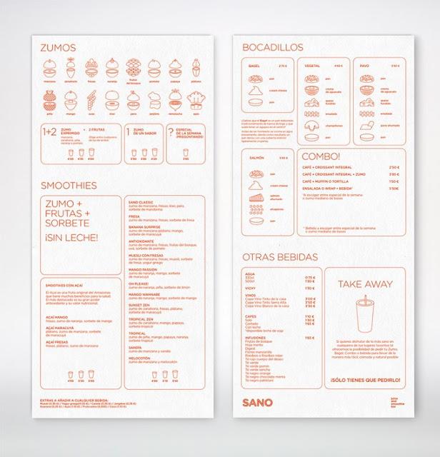 Great Menu Graphic Design by Sano Juice