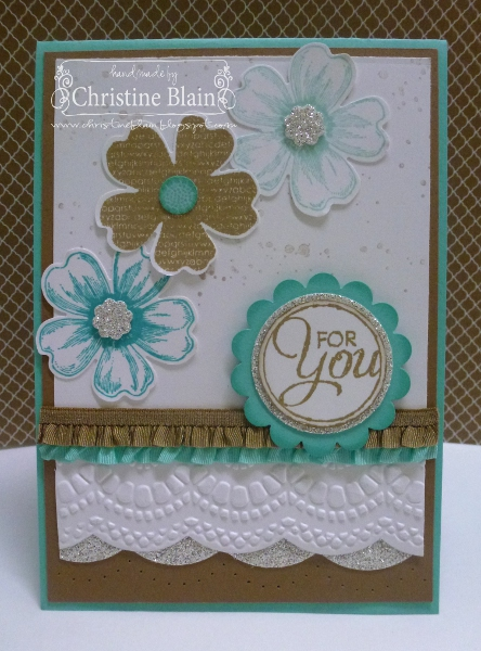 happy heart cards stampin' up's flower shop with a