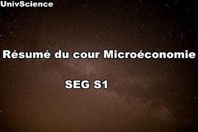 Résumé du cour Microéconomie SEG S1
