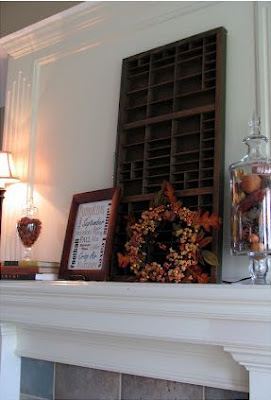 Thrifty Fall Mantel