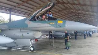 Empat Pesawat F16 C dari Guam Mendarat di Lanud Iswahjudi