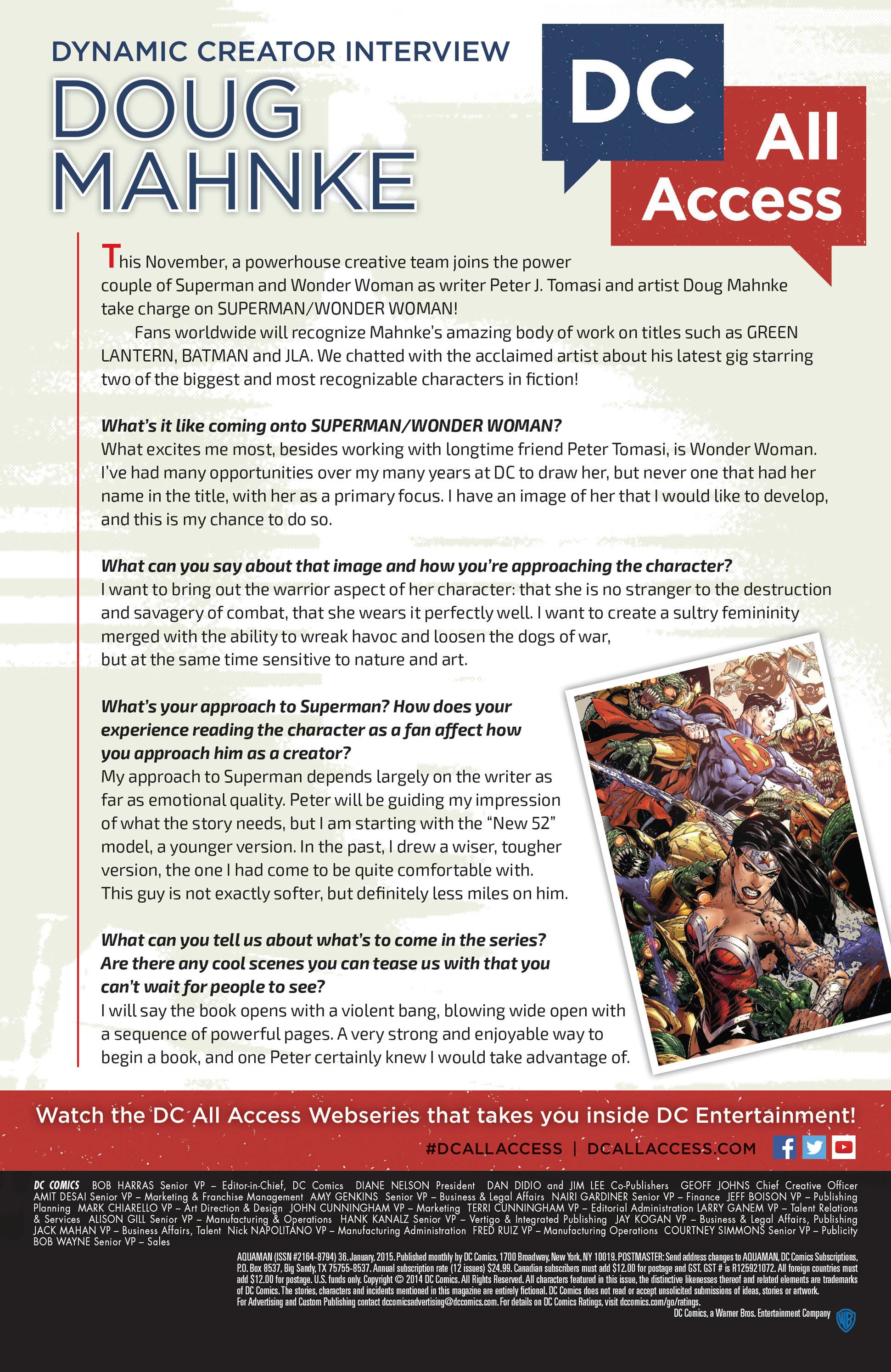 Read online Aquaman (2011) comic -  Issue #36 - 23