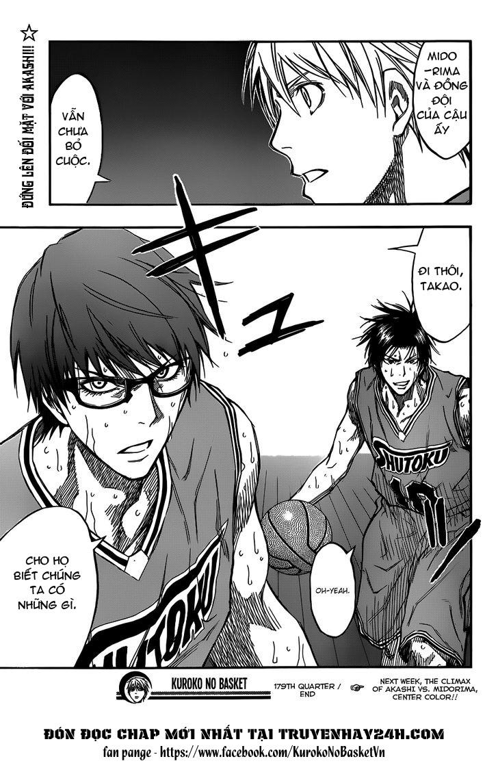 Kuroko No Basket chap 179 trang 18
