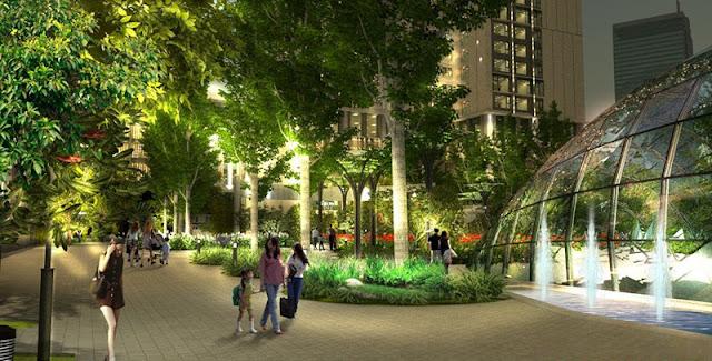 khu sân vườn chung cư Eco Green City Nguyễn Xiển