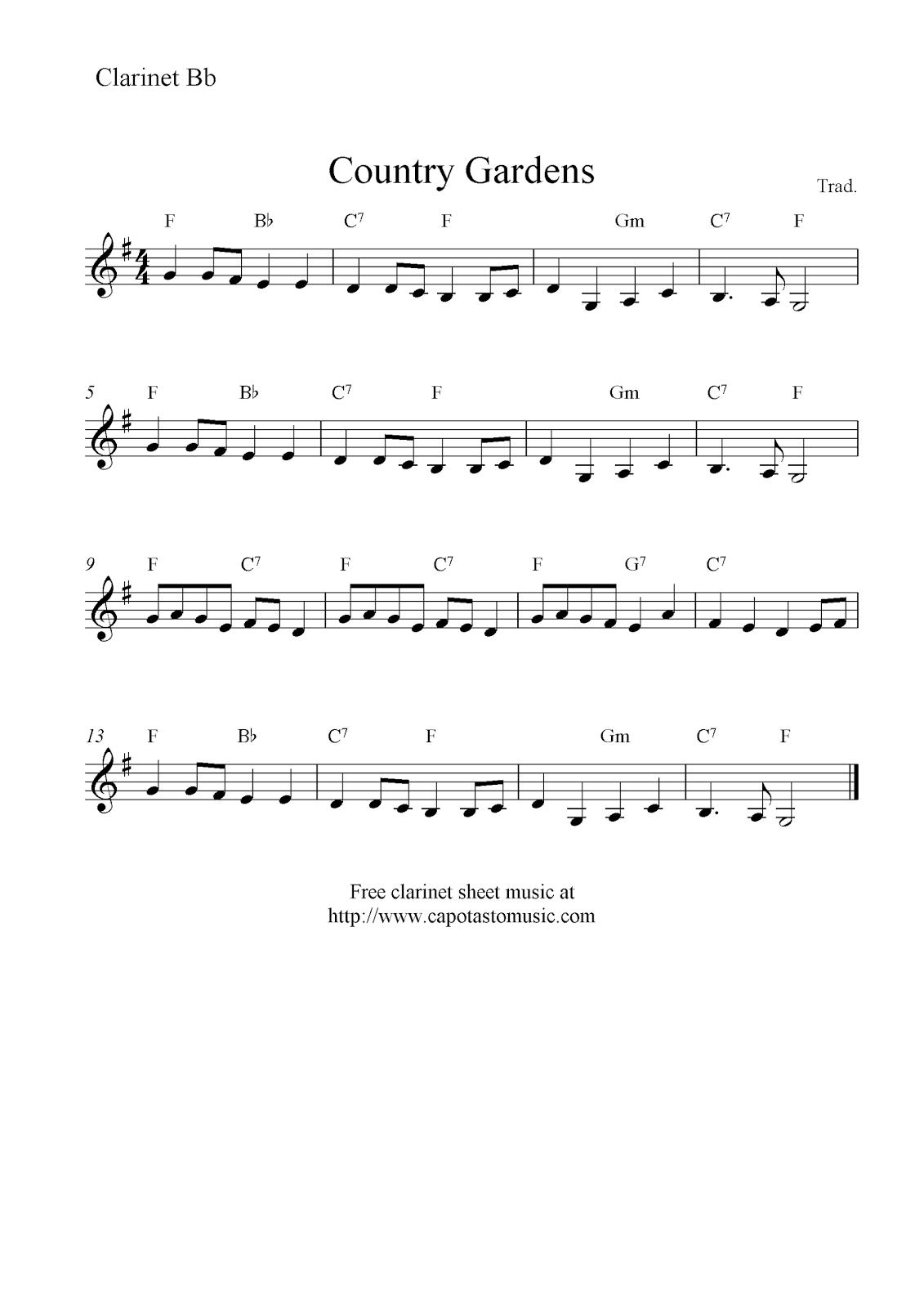 Astounding image inside free printable clarinet sheet music