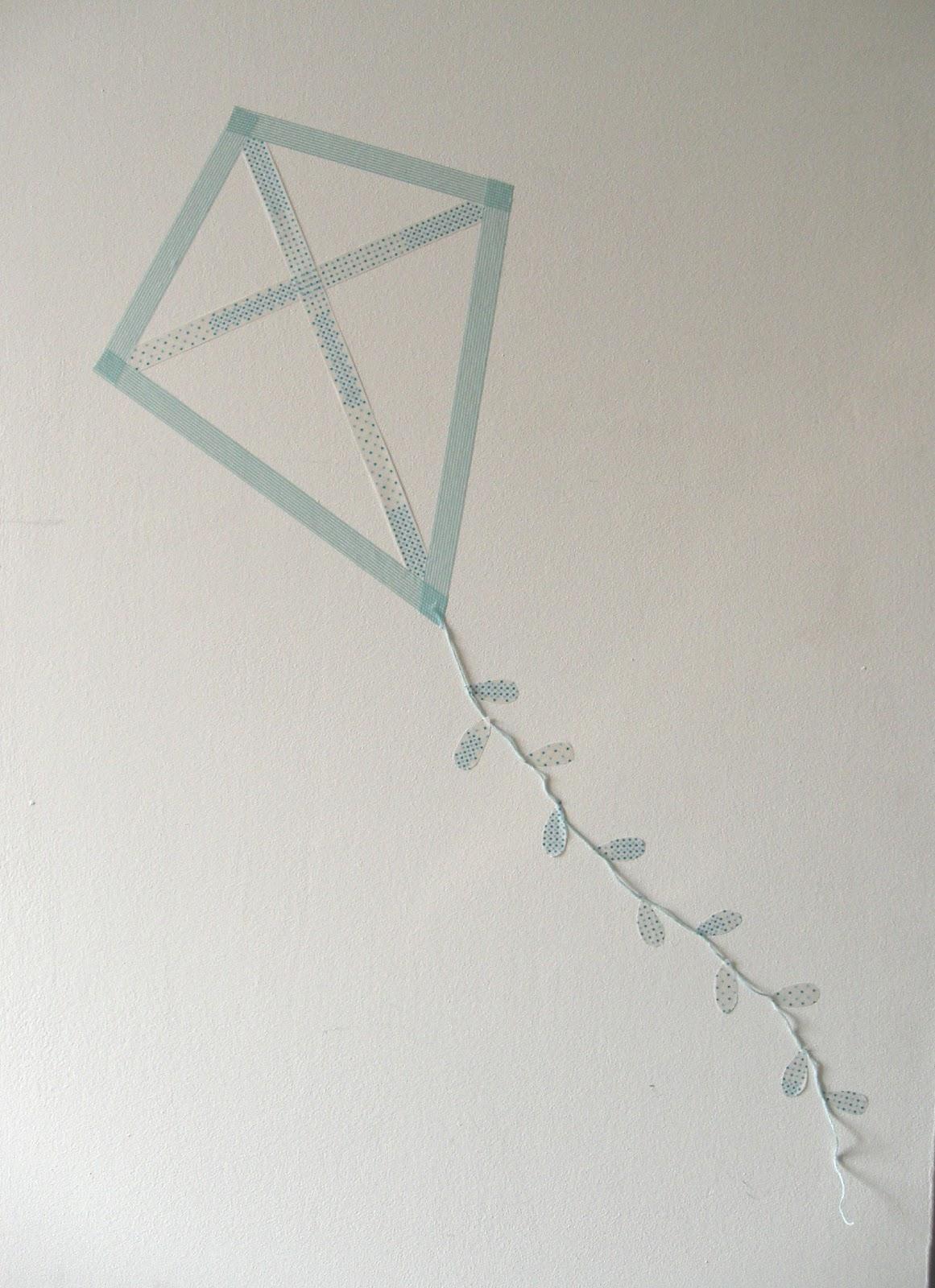 gabulle in wonderland cerf volant en masking tape. Black Bedroom Furniture Sets. Home Design Ideas