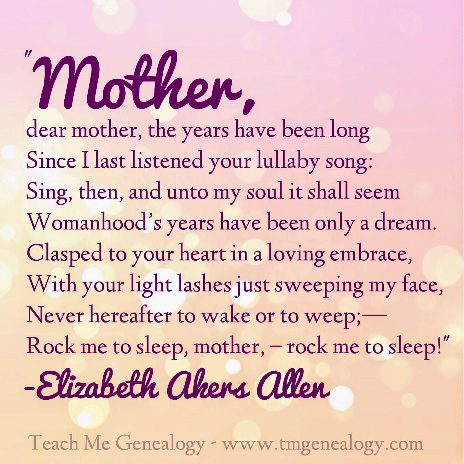Tribute To Mother In Law Quotes: Teach Me Genealogy