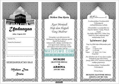undangan walimatussafar haji