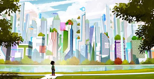 Astro Boy Reboot Cityscape