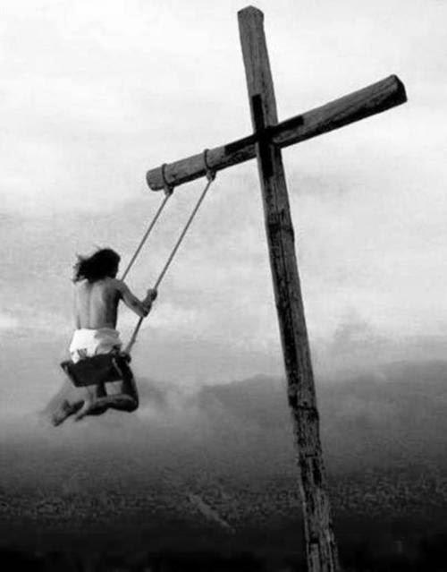 Funny Cross Swinging Jesus Joke Picture