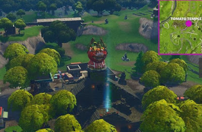 Timed Trial Locations, Fortnite, Tomato Temple