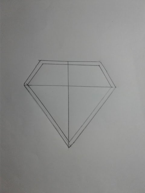 How to Draw a Superman Logo S 3D
