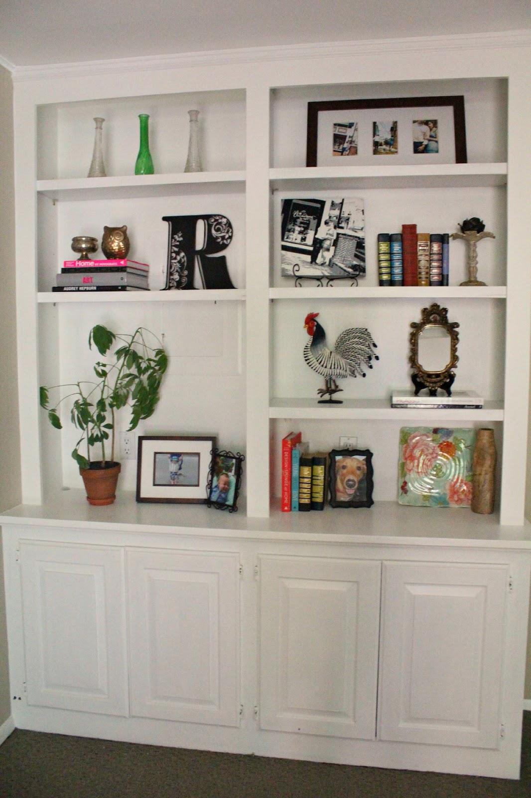 Ten June: My Living Room Built-In Bookshelves Are Styled ...