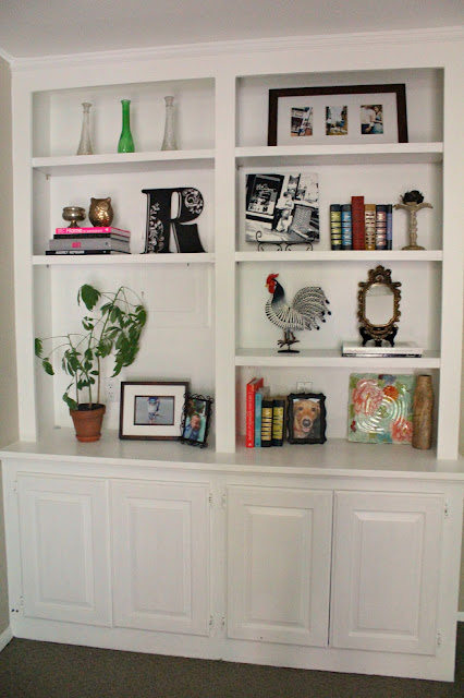Living Room Shelf Ideas: Ten June: My Living Room Built-In Bookshelves Are Styled