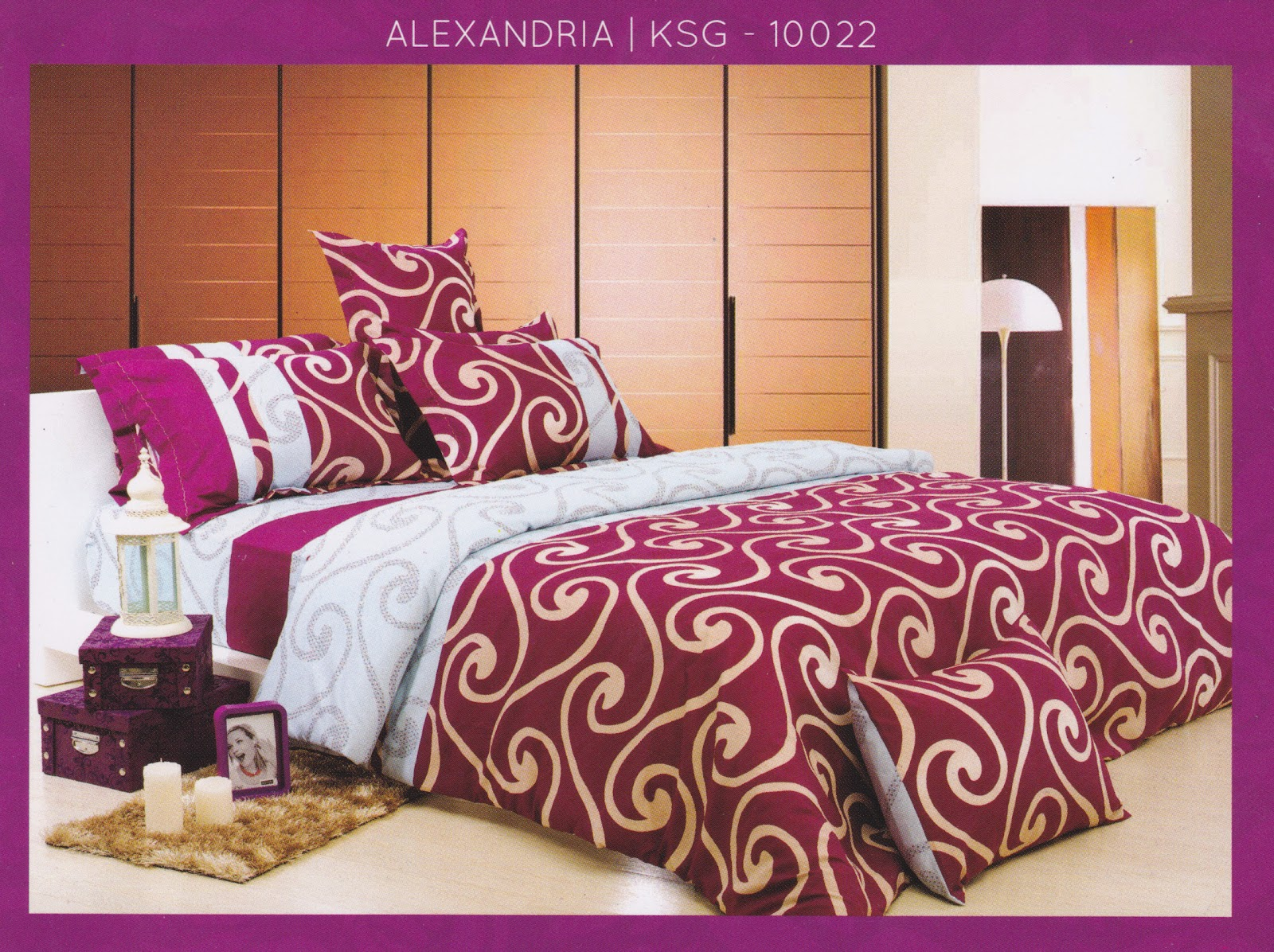 Sprei Kendra Signature Alexandria Ko Line Bed Cover Murah Jual