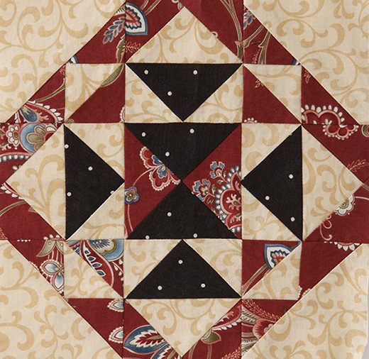 Mystery Quilt Block 3 Free Pattern designed by Monique Dillard of Open Gate Quilts