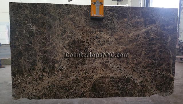 Emperador Dark Marble Slab NYC 2cm