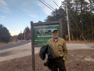 Russel Juleg at Franklin Parker Preserve, cranberry bog restoration site, Pine Barrens, New Jersey