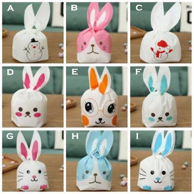 Rabbit Plastic Bags / Plastik Pembungkus Souvenir Kelinci (Kecil)