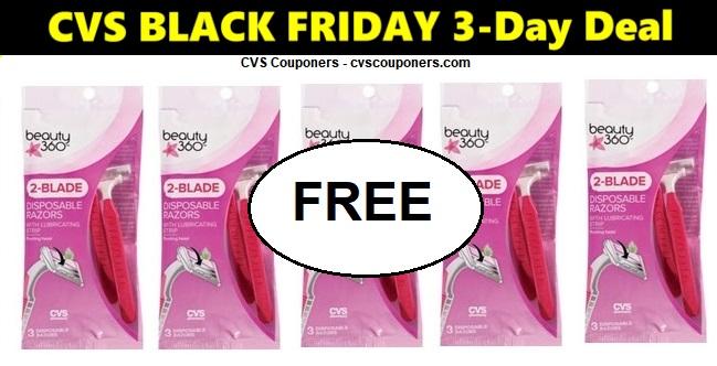 http://www.cvscouponers.com/2018/11/CVS-FREE-Beauty-360-Razors-1122-1124.html